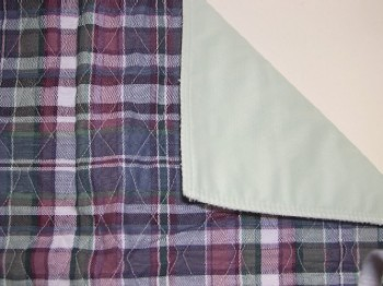 Quilted Plaid Bed Pad CP700